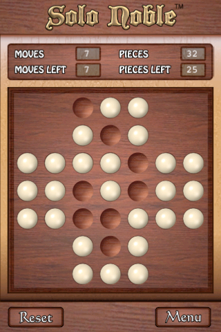 Screenshot Solo Noble – Peg Solitaire